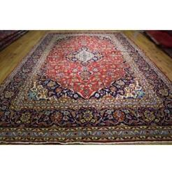 10x15 Authentic Hand Knotted Red Blue Traditional Rug La-52069