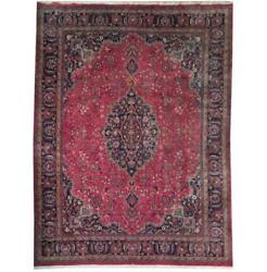 Fascinating 10x13 Authentic Hand Knotted Semi-antique Rug B-71086