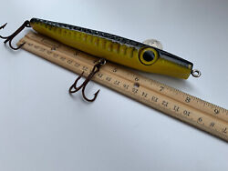 Vintage Wooden Needlefish Lure Huge/large Eyes 7 3/4andrdquo In Good Condition. Rare.