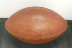 Jim Kelly Signed Game Used Football With Jsa Coa Light Signature But Rare Ball