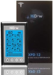 Hidow Tens Unit Xpd-12 Modes | Ems Dual Independent Channels | Electronic Pulse