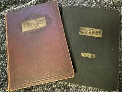 Vintage/ Antique- The Crest 1927 And 1928 Yearbook Collectors