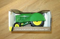 John Deere 1953 Model 60 Orchard Tractor 1/16 Scale Made In U.s.a.