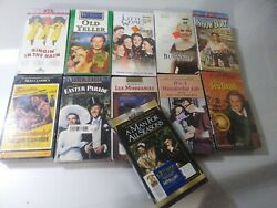 Lot Of 11 Vhs Movies Tapes Action Adventure Classics Family Brand New