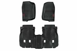 Rough Country Heavy Duty Floor Mats [f/r]-18-20 For Jeep Wrangler Jl Unlimited