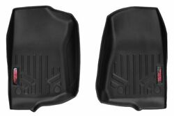 Rough Country Heavy Duty Floor Mats [front] Fits 18-20 Jeep Jl, Gladiator Jt