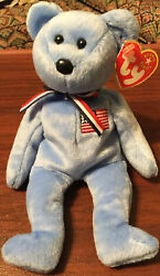 Retired Patriotic America Ty Beanie Baby To Remember All Americans From 9/11🙏
