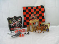 Lot Of 2 Toys Rodeo Star Horse + Book And Collector's Edition Pbr Checkers Set