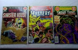 Secrets Of Sinister House No 11 House Of Mystery No 269 Swamp Thing No 20 Lot 50