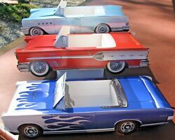 9 Assorted Classic Cardboard Cars Kids Food Box Party Planner Table Center A