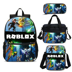 Roblox Backpack Kids Boys Shoulder Bags Insulated Lunch Bag Pen Case Gifts Lot $8.99