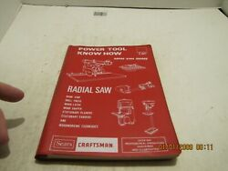 1975 Sears Craftsman Radial Saw And Other Power Tools Know How Book 9-2917 Used