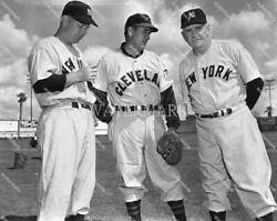 Fb755 Casey Stengal And Al Lopez Indians Yankees Pose 8x10 11x14 16x20 Photo