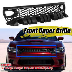 For Dodge Charger Srt Scat Pack 2015-2019 Upper Grille With Bezels Dual Inlets