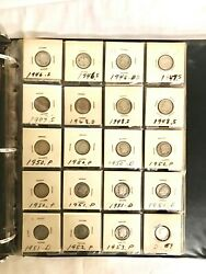 Roosevelt Dime Collection S P And D 1946 To 1973 Lots Of Duplicates Mostly Pre-64