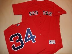 0914 Boston Red Sox David Ortiz Authentic Game Flex Base Jersey Red New 48