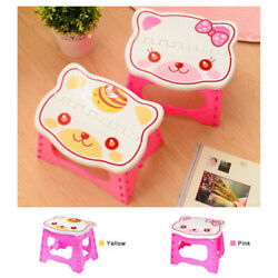 Cute Cartoon Plastic Foldable Stool for Kids for Kitchen Bathroom For Camping $12.99