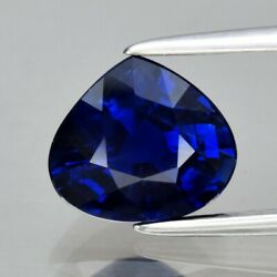 Certificate Incl.2.10ct 8x7.2mm Vs Pear Natural Unheated Blue Sapphire