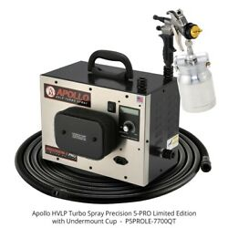 Apollo Limited Edition Hvlp Precision 5 Pro Spray System W 7700qt Gun And 32and039 Hose