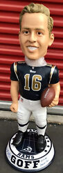 Jered Goff Rams Signed 3 Ft Bobblehead 36andrdquo Insc Autographed Fanatics Authentic