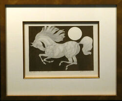 Guillaume Azoulay Etude Equestre Abz Absalom Original Penandink Mix Media Signed