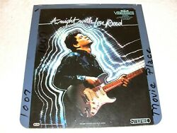 A Night With Lou Reed - Ced Selectavision Videodisc, 1983 Music Concert, Rare