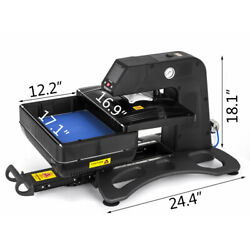 3d Pneumatic Vacuum Sublimation Heat Press Machine With 9.815inch Heating Plate