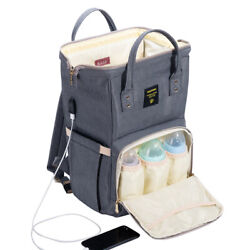 Sunveno Backpack Diaper Bag Baby Changing Nappy Bag Travel Large Capacity $29.99
