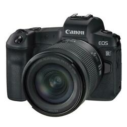 Canon Eos R Mirrorless Digital Camera With Rf 24-105mm F/4-7.1 Is Stm Lens