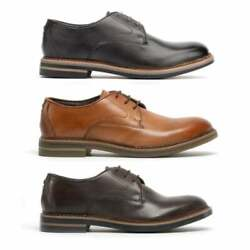Base London Wayne Mens Formal Business Office Leather Lace Up Smart Derby Shoes