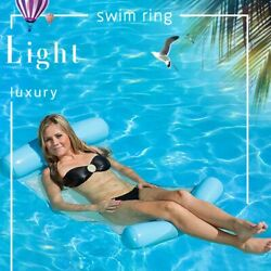 Inflatable Swimming Pool Floating Water Floating for Summer Beach Lounge Bed