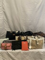 Lot of 11 Designer Bags including Coach bebe Vera Bradley designs etc.  $55.00