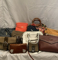 Lot of 11 Designer Bags including Coach Fossil Baggillini etc.  $55.00