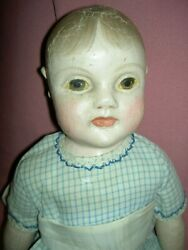 Fabulous And Rare Antique Philadelphia Baby Cloth Doll By Jb Sheppard And Co.