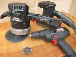 3 Craftsman Electric Hand Tools Drill,polisher ,sander, Used