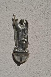 Great Vintage Bavarian Christianity Guardian Angel Holy Water Font From 19th Nr1