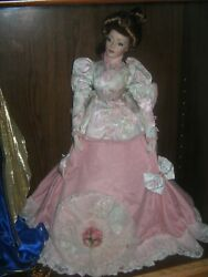 The Gibson Girl, Tea At The Ritz Franklin Heirloom Doll By Franklin Mint