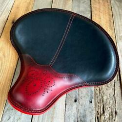 15x14 Ant Red Wingtip Spring Tractor Seat Indian Scout Bobber Harley Softail