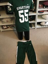 Nike Michigan State Spartans Football Jersey And Pants Men's L Green Costume