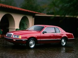 1983 Ford Thunderbird Red, 24 X 36 Inch Poster,