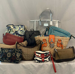Lot of 11 Designer Bags including Coach Micheal Kors G by Guess etc.  $55.00