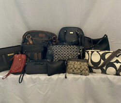 Lot of 11 Designer Bags including Coach Fossil Liz Claiborne $55.00