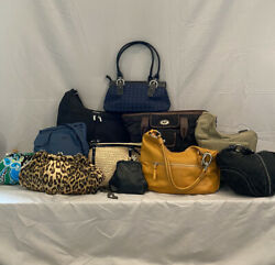 Lot of 11 Designer Bags including Coach Nine West Baggallini Banana Republic $55.00