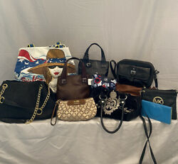 Lot of 11 Designer Bags including Juicy Couture Brighton Coach Michael Kors $55.00