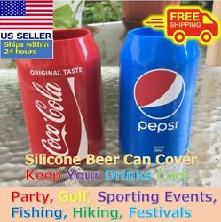 Beer Can Covers Silicone Sleeve Hide A Beer Coca-cola Pepsi 12oz 355ml
