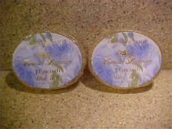 2x Lot Bars Camille Beckman Hyacinth Blue Bell Glycerine Soap 3.5oz Discontinued