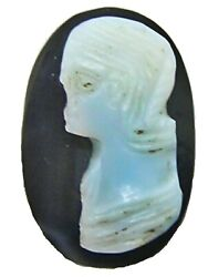 3rd Century A.d. Ancient Roman Hardstone Onyx Cameo Of An Empress