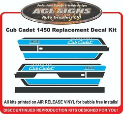 Cub Cadet 1450 International Hydrostatic Tractor Reproduction Decal Kit 1650