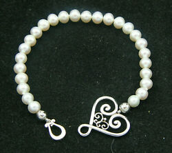 And Co Paloma Picasso Venezia Goldoni Sterling And Pearl 7.50 Bracelet