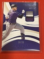 2020 Immaculate Trevor Story Jersey Patch 19/25